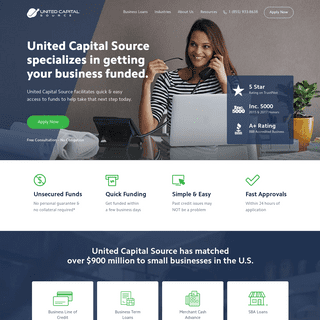 United Capital Source Inc. - Business Loans - 5 Star Rating
