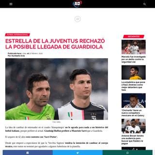 Estrella de la Juventus rechazó la posible llegada de Guardiola