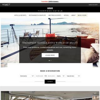 Luxury Hotel Brands - Thompson Hotels - Luxury Hotel Chains