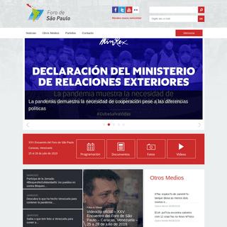 ArchiveBay.com - forodesaopaulo.org - Foro de São Paulo Sítio del Foro de São Paulo