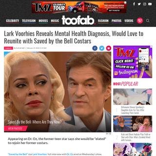 Lark Voorhies Reveals Mental Health Diagnosis on Dr. Oz - toofab.com
