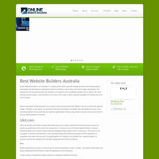 Top 10 Website Builders Australia - Simple and Easy to Create a Website with onlinewebsitebuilders.com.au