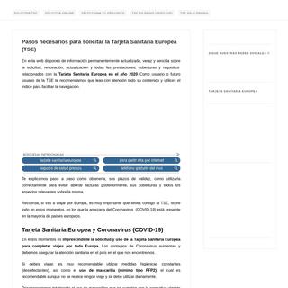 Tarjeta Sanitaria Europea, solicitud, coberturas y resolución de dudas ✅