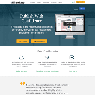Plagiarism Detection Software - iThenticate