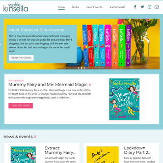 The official website of bestselling author, Sophie Kinsella