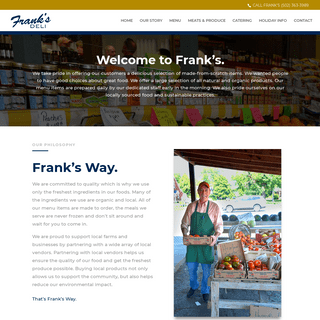 Frank's Meats and Produce - Welcome to Frank's!