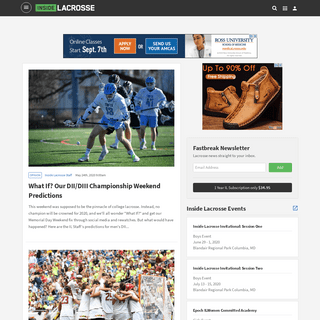 Lacrosse News, Scores, and Analysis - Inside Lacrosse