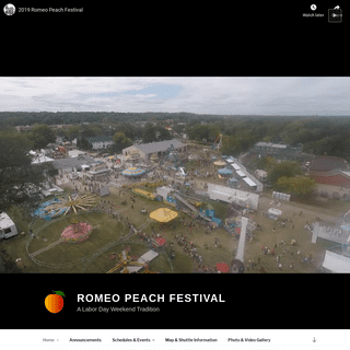 Romeo Peach Festival – A Labor Day Weekend Tradition