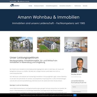 Amann Wohnbau Ravensburg - Bauträger und Immobilienmakler in und um Ravensburg