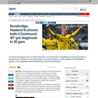 ArchiveBay.com - www.repubblica.it/sport/calcio/esteri/2020/02/22/news/bundesliga_haaland_fa_ancora_bello_il_dortmund_40_gol_stagionale_in_30_gare-249290326/ - Bundesliga, Haaland fa ancora bello il Dortmund- 40° gol stagionale in 30 gare - la Repubblica