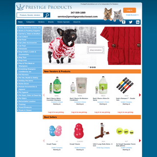 PrestigeProductsEast.com is where pet product retailers shop for their stores.