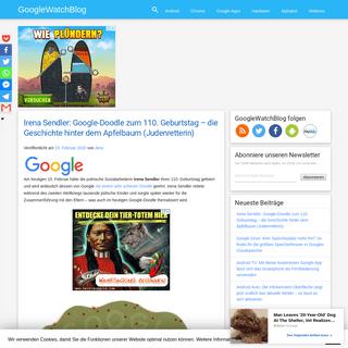 Irena Sendler- Google-Doodle zum 110. Geburtstag - die Geschichte hinter dem Apfelbaum (Judenretterin) - GWB