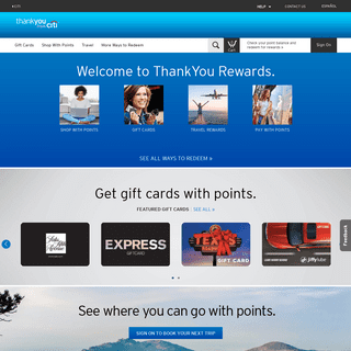ArchiveBay.com - thankyou.com - Citi ThankYou® Rewards - Redeem your ThankYou® Points for great rewards