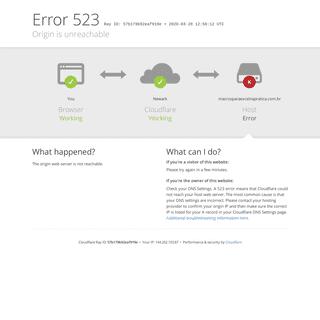 macrosparaexcelnapratica.com.br - 523- Origin is unreachable
