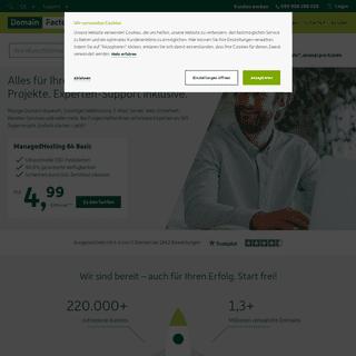Domains, Hosting und Homepage von DomainFactory