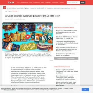 Sir John Tenniel- Wen Google heute im Doodle feiert - CHIP