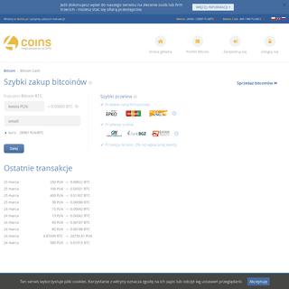 Kantor Bitcoin - szybki zakup i sprzedaż bitcoinów - 4coins