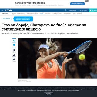 La tenista rusa María Sharapova anunció su retiro del tenis - Tenis - Deportes - ELTIEMPO.COM