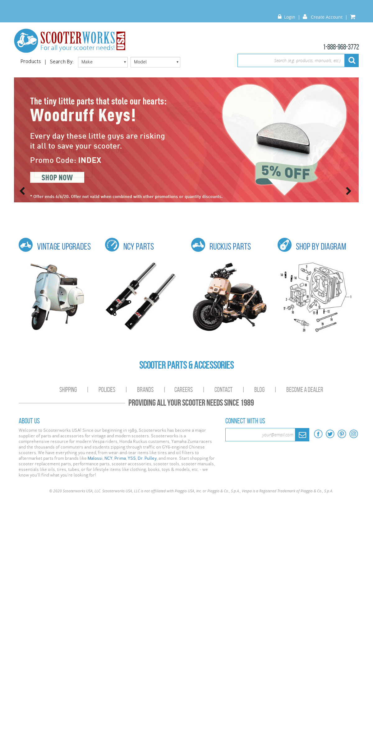 Scooter Parts & Accessories - Scooter Performance & Stock Parts - Scooterworks USA