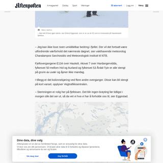 ArchiveBay.com - www.aftenposten.no/norge/i/jdJKpw/50-sitter-fast-pa-Haukeliseter--Matte-returnere-til-fjellstuen-da-snostormen-kom - 50 sitter fast på Haukeliseter- – Måtte returnere til fjellstuen da snøstormen kom