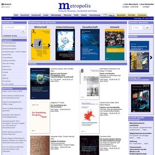 Metropolis - Verlag für Ökonomie, Gesellschaft und Politik