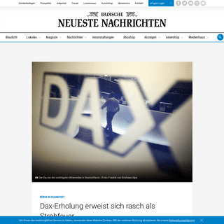 Dax-Erholung erweist sich rasch als Strohfeuer