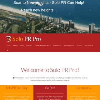 Solo PR Pro - Home - Solo PR Pro