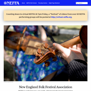 NEFFA – New England Folk Festival Association