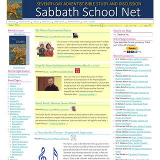 Sabbath School Net- Seventh-day Adventist Bible Study and Discussion