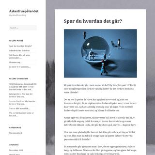 Askerfruepålandet – My WordPress Blog