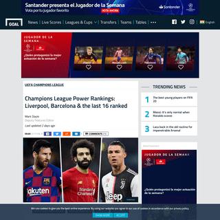 ArchiveBay.com - www.goal.com/en-in/lists/champions-league-power-rankings-liverpool-barcelona-the-last/1r5te1xpe7t0k1u5p2g44ifw7y - Champions League Power Rankings- Liverpool, Barcelona & the last 16 ranked - Goal.com