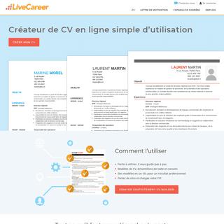 CV Maker - Faire un CV en Ligne - LiveCareer