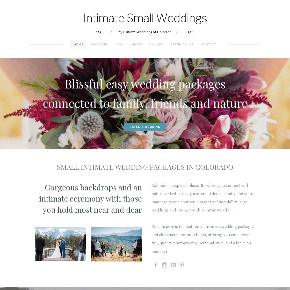 Colorado Intimate Weddings & Elopements - Home