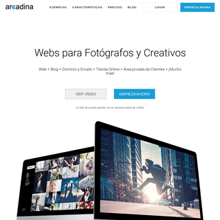 Webs para Fotógrafos y Creativos - Arcadina ®