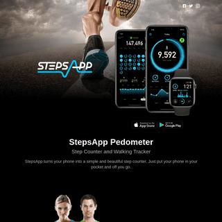 StepsApp Pedometer – Step Counter and Walking Tracker