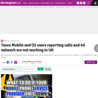 Tesco Mobile and O2 users reporting calls and 4G network are not working in UK - Birmingham Live