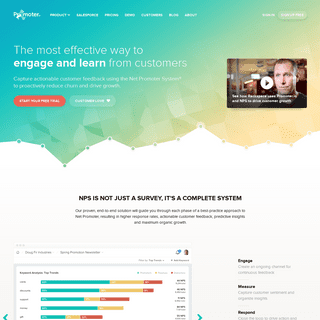 Promoter.io - Net Promoter Score Software and Customer Experience Management