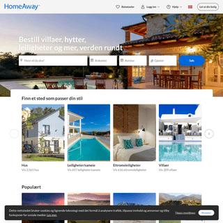 HomeAway - Book feriehus, hytter og leiligheter til reisen online