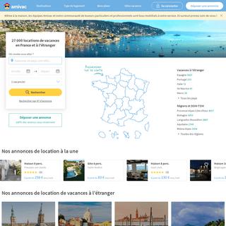 27 000 locations de vacances - Maisons, villas, chalets, gîtes - Amivac