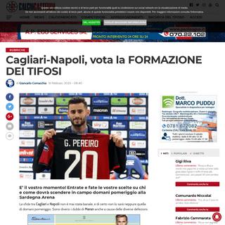 Cagliari-Napoli, vota la FORMAZIONE DEI TIFOSI