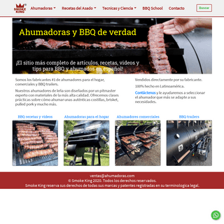 ArchiveBay.com - ahumadoras.com - Ahumadoras de verdad para el hogar y comercial - Smoke King