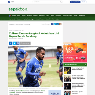 Zulham Zamrun Lengkapi Kebutuhan Lini Depan Persib Bandung