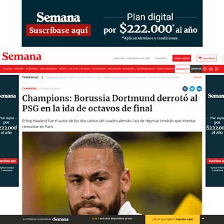 Champions- Borussia Dortmund derrotó al PSG en la ida de octavos de final