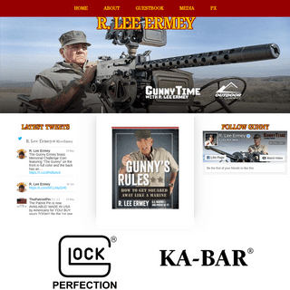 Welcome to R. Lee Ermey.com NOW DROP AND GIVE ME 25!