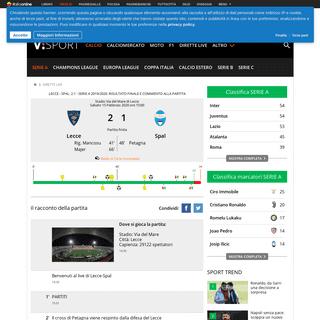 ArchiveBay.com - sport.virgilio.it/dirette/live/serie-a/15-2-2020/lecce-spal/5428/ - Lecce - Spal- 2-1 Serie A 2019-2020. Risultato finale e commento alla partita - Virgilio Sport
