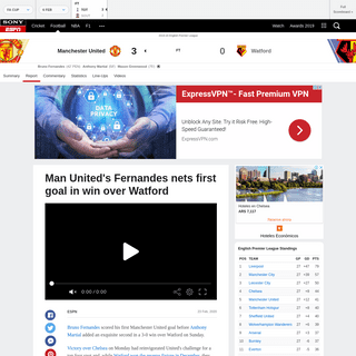 ArchiveBay.com - www.espn.in/football/report?gameId=541583 - Manchester United vs. Watford - Football Match Report - February 23, 2020 - ESPN