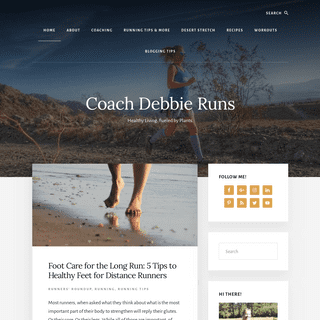 - Running tips, workouts, plant based recipes for a healthy life - Coach Debbie Runs