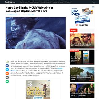 Henry Cavill Is the MCU's Wolverine in BossLogic's Captain Marvel 2 Art