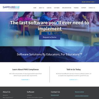 SapphireK12 – Software Solutions By Educators, For Educators™