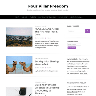 Four Pillar Freedom - Sharing insights on how to grow wealth and gain freedom.